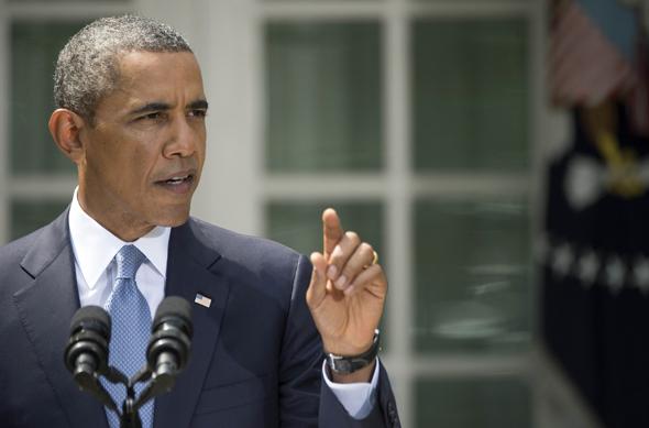 2013年8月31日,在美国首都华盛顿白宫,美国总统奥巴马在玫瑰花园发表讲话。美国总统奥巴马31日在白宫发表讲话说,他将就对叙利亚采取军事行动寻求国会授权。美国国会众议院将在9月9日之后开始就此展开讨论。图片:新华社/法新