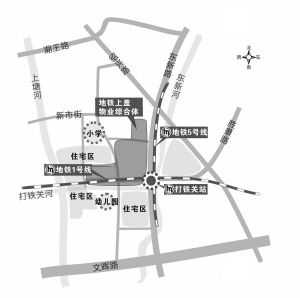 杭州地铁打铁关站要建上盖物业大型综合体