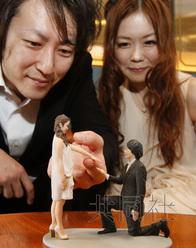 日本现3D打印真人服务能立体还原求婚场景(图)