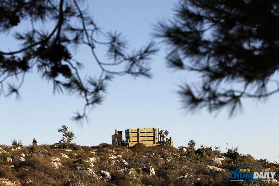 """耶路撒冷附近部署""""铁穹""""导弹防御系统 防叙利亚报复(高清组图)"""