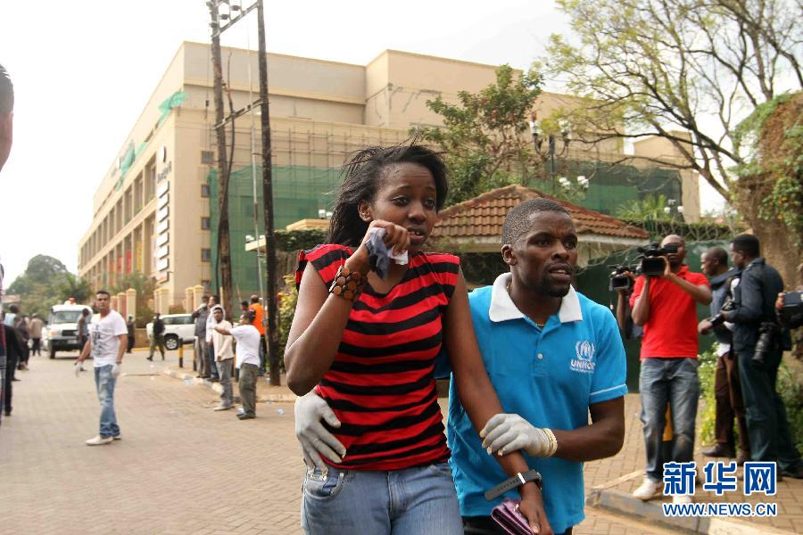 (国际)(9)肯尼亚购物中心袭击事件造成至少20人死亡