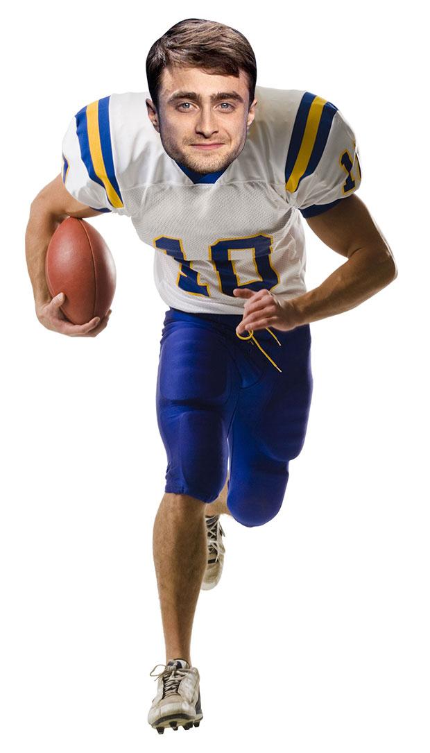 Daniel Radcliffe as a US football ace