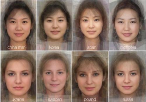 """各国女士""""平均样貌""""比拼中国女性脸大过韩日(图)"""