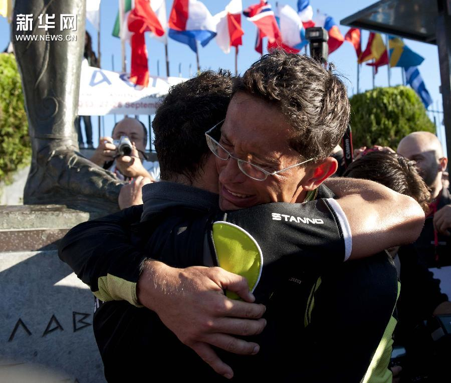 (体育)(3)马拉松——雅典-斯巴达超级马拉松落幕