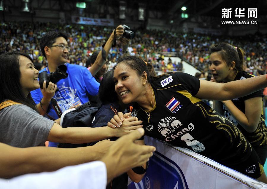 (体育)(2)排球——女排亚锦赛:泰国队夺冠