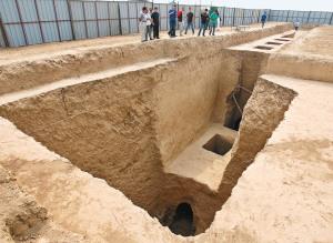 上官婉儿墓是一座带有5个天井的唐代墓葬 记者 张宇明 摄
