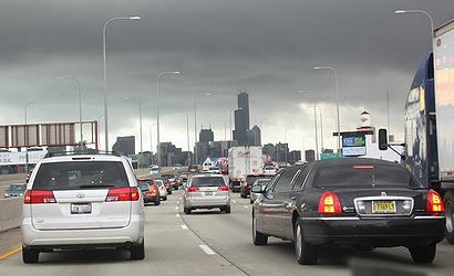 伊利诺伊州芝加哥市的午后高峰。(图片作者Wendy Bonilla)