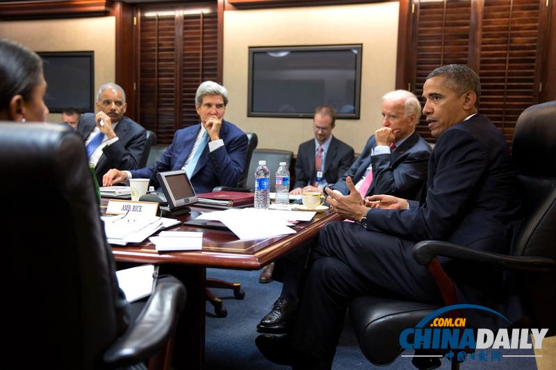 奥巴马白宫战情室召开安全会议 讨论叙利亚局势(高清组图)