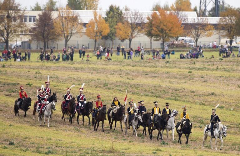 德6000民众重现战争场面 纪念莱比锡战役200周年