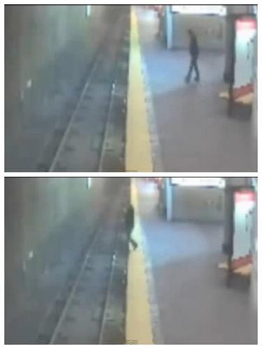 女子梦游跌落地铁幸得乘客跳下月台救起仅擦伤