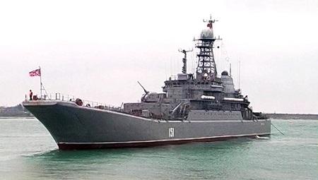 """俄""""亚速""""号侦查舰将返回地中海执行任务(图)"""