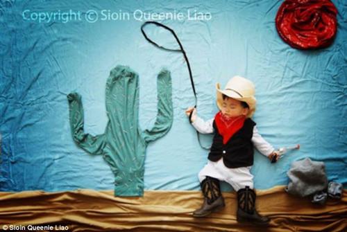 在文根睡着之前,廖奎尼就开始设想要为儿子搭建怎样的童话场景。