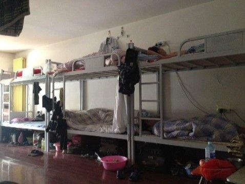 群租房里密集的床铺