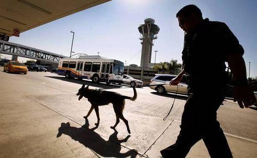 洛杉矶机场一名雇员卷入干冰爆炸案被捕(图)