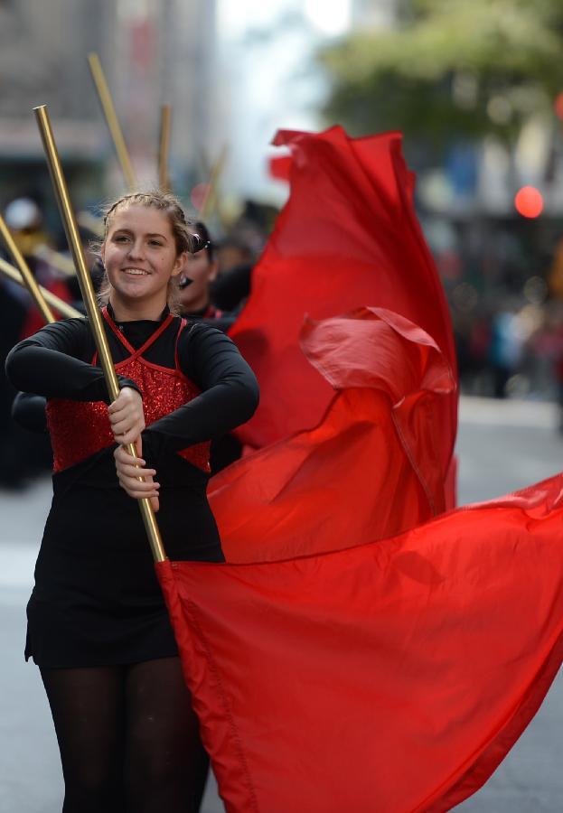 (国际)(5)纽约举行哥伦布日游行
