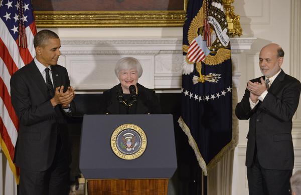 耶伦获总统提名或任美联储新主席誓提升就业率