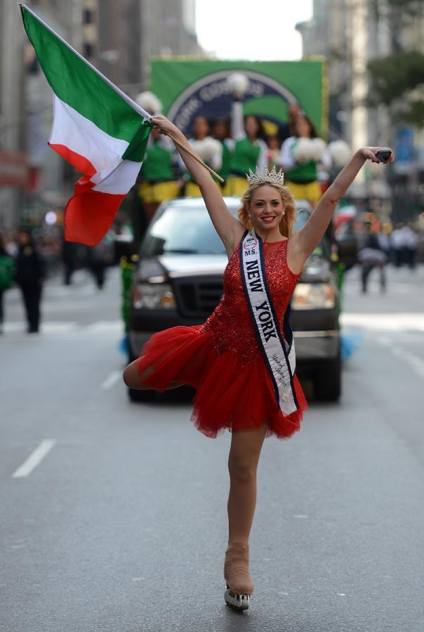 (国际)(2)纽约举行哥伦布日游行