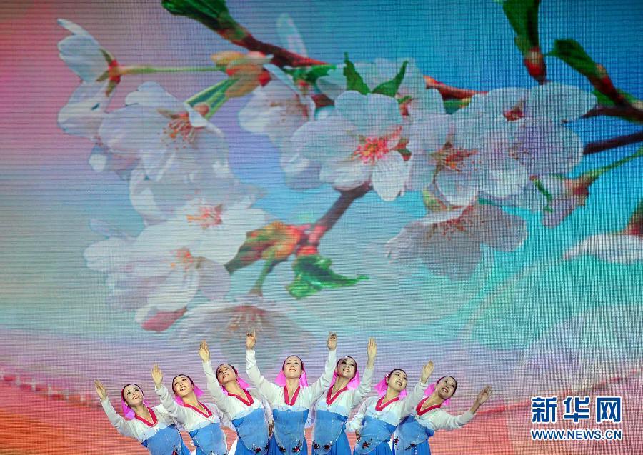 (文化)(1)朝鲜国立民族艺术团访华大型文艺演出在丹东举行