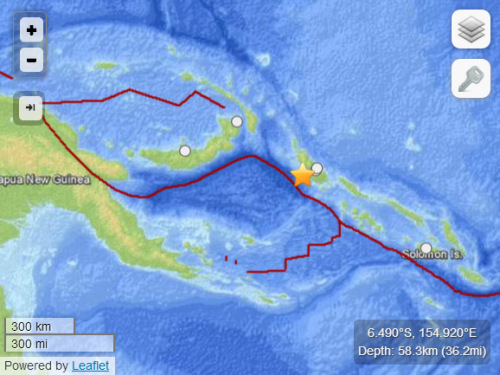 所罗门群岛附近海域发生7.1级地震未引发海啸