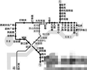 4号线一期(滨江区浦沿街道-江干区彭埠镇)开通后,近江站和东站之间明显比1号线的要短