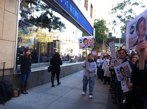 美国华人不满ABC道歉或采取更大规模示威活动