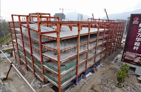 浙南最大钢结构立体车库月底主体完工