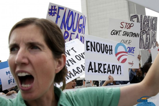 组图:美国民众示威抗议联邦政府关门