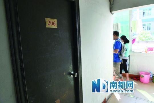 深圳坂田上雪工业区兴隆旅馆,事发房间。 刘有志 摄