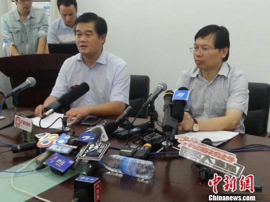 余姚市抗洪救灾第三次新闻发布会现场。 何蒋勇 摄