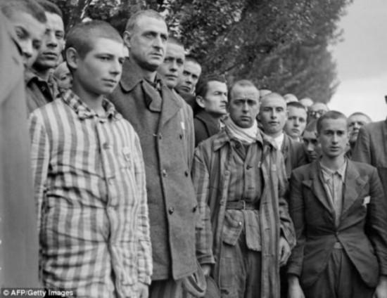 """达豪集中营的法国囚犯。二战期间,纳粹曾在集中营实施巨型安哥拉兔繁育计划,名为""""麦肯奇行动""""。达豪集中营便是第一座实施这项繁育计划的集中营。这座纳粹集中营位于慕尼黑附近"""