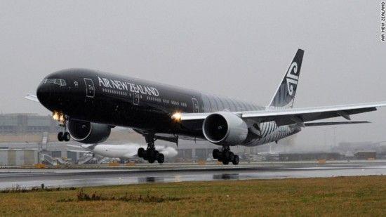 2011年新西兰航空公司为其飞机制作的彩装可谓相当