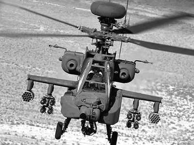 阿帕奇长弓直升机AH-64E。 (图片来源:《中国时报》)