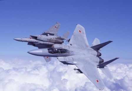 图为日本航空自卫队的F-15DJ战斗机。图片来自网络