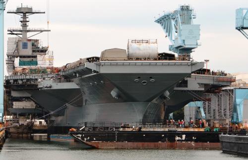 美国新一代主力航母下水将成亚太战略前线核心