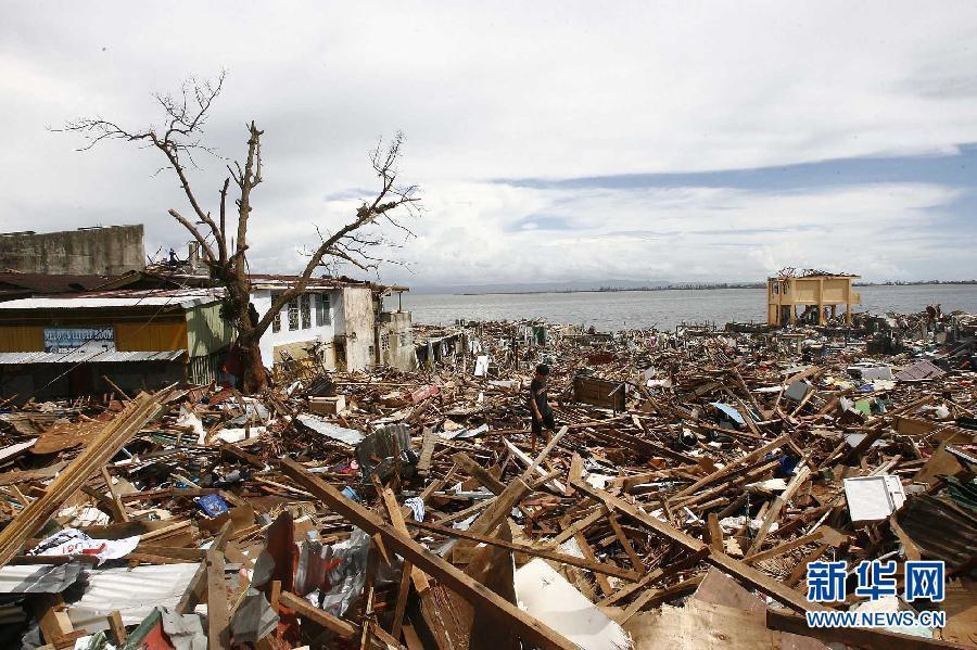 (国际)(1)菲律宾台风重灾区塔克洛班市状况