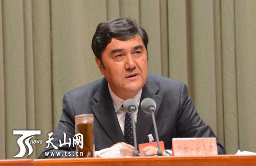 自治区党委副书记、自治区主席努尔·白克力作总结讲话。