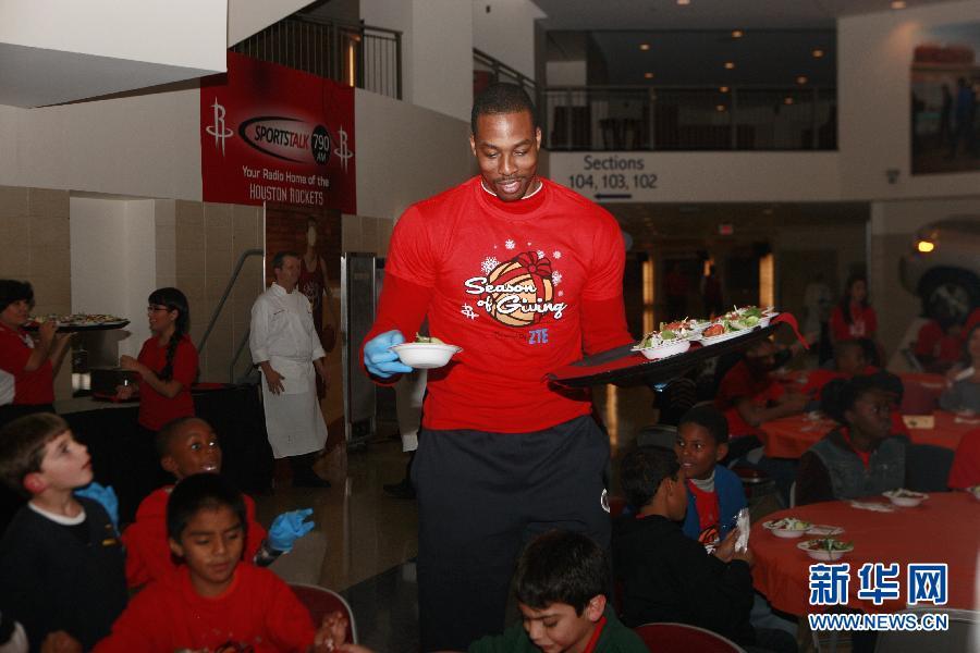 (体育)(6)篮球——NBA:火箭队联手中国企业送感恩节大餐