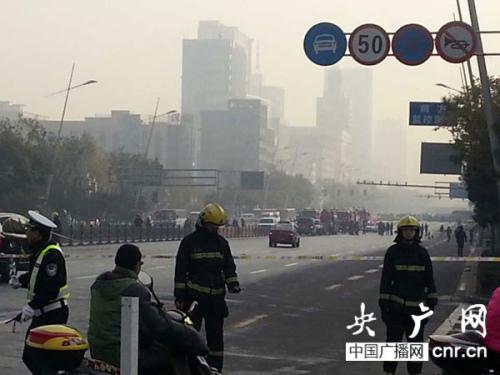山西省委门口传出连续爆炸声道路已经戒严(图)