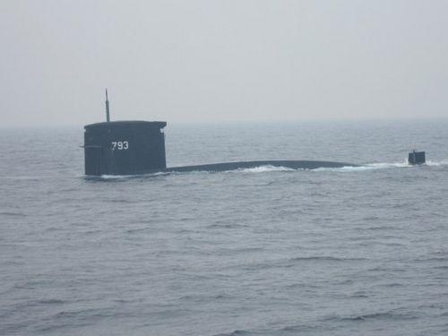 台湾海军海龙号潜舰。(图/记者吕烱昌摄影)