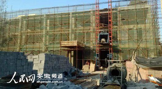 """灵璧县违建办公楼被叫停两月后领导""""授意""""复工"""