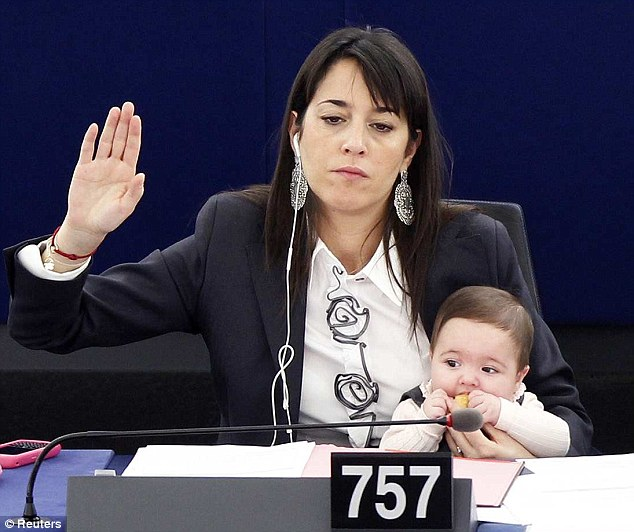Vittoria at the European Parliament in Strasbourg to mark the International Women\'s Day, March 8, 2011