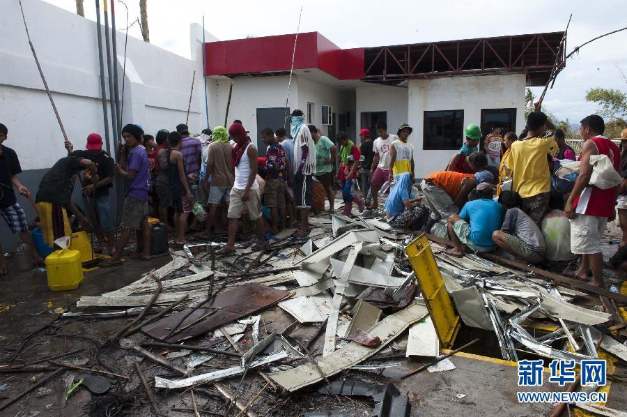 (国际)(4)菲律宾台风重灾区塔克洛班现场直击
