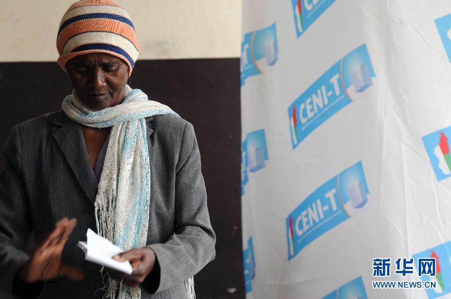 (国际)(3)马达加斯加总统选举第二轮投票开始