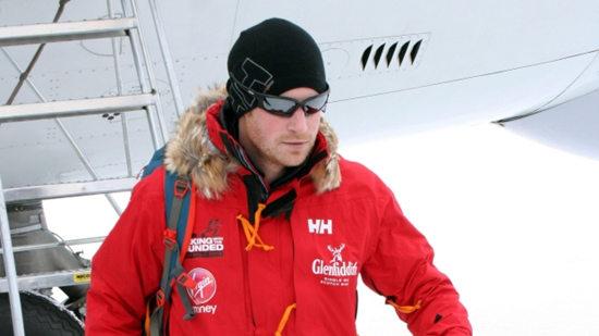 哈里王子南极徒步旅行条件恶劣比赛取消(图)