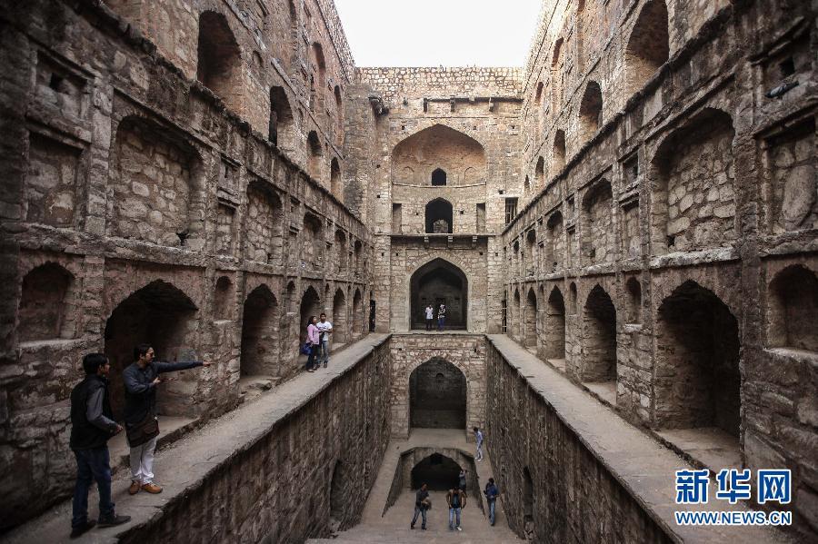 (国际)(4)探秘印度新德里古老的阶梯井