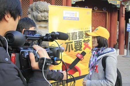 北京电视台等电视媒体活动现场采访