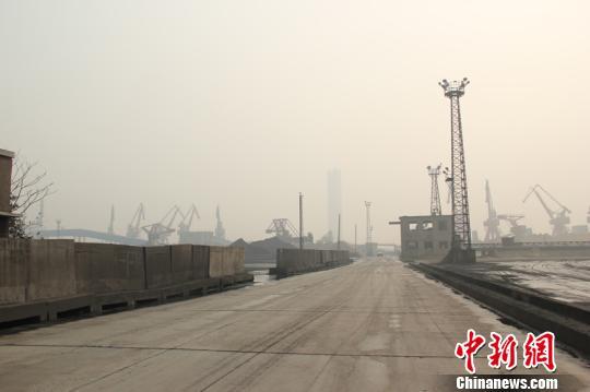 图为镇海停运煤码头。 林波 摄