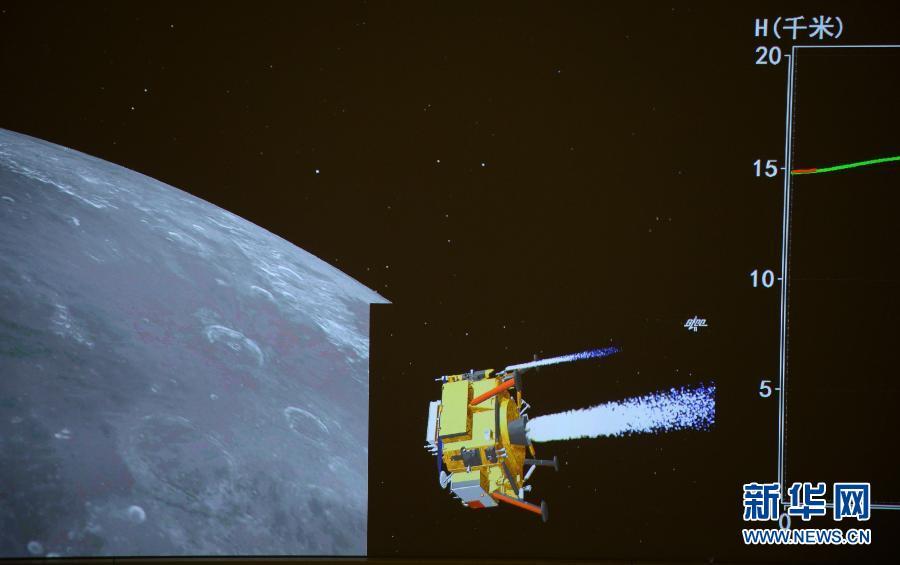 (嫦娥三号)(2)嫦娥三号开始落月