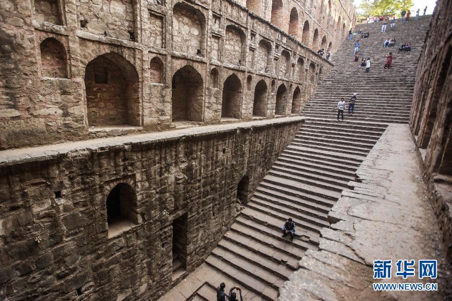 (国际)(3)探秘印度新德里古老的阶梯井