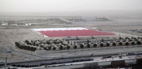 卡塔尔造世界最大国旗可覆盖十几个足球场(图)